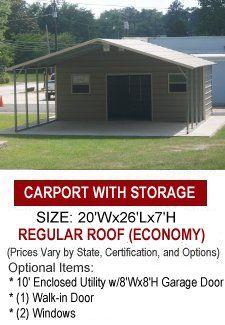 Metal Combo Carport Carport With Storage Carport Sheds Carport