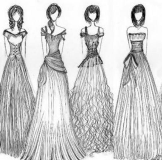 Draw Fashion Dresses