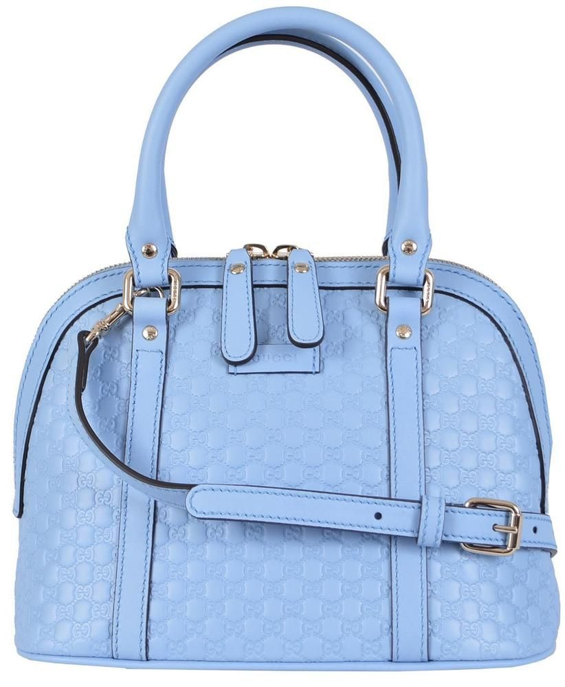 gucci bags blue. new gucci 449654 $995 micro gg baby blue leather convertible mini dome purse bags s