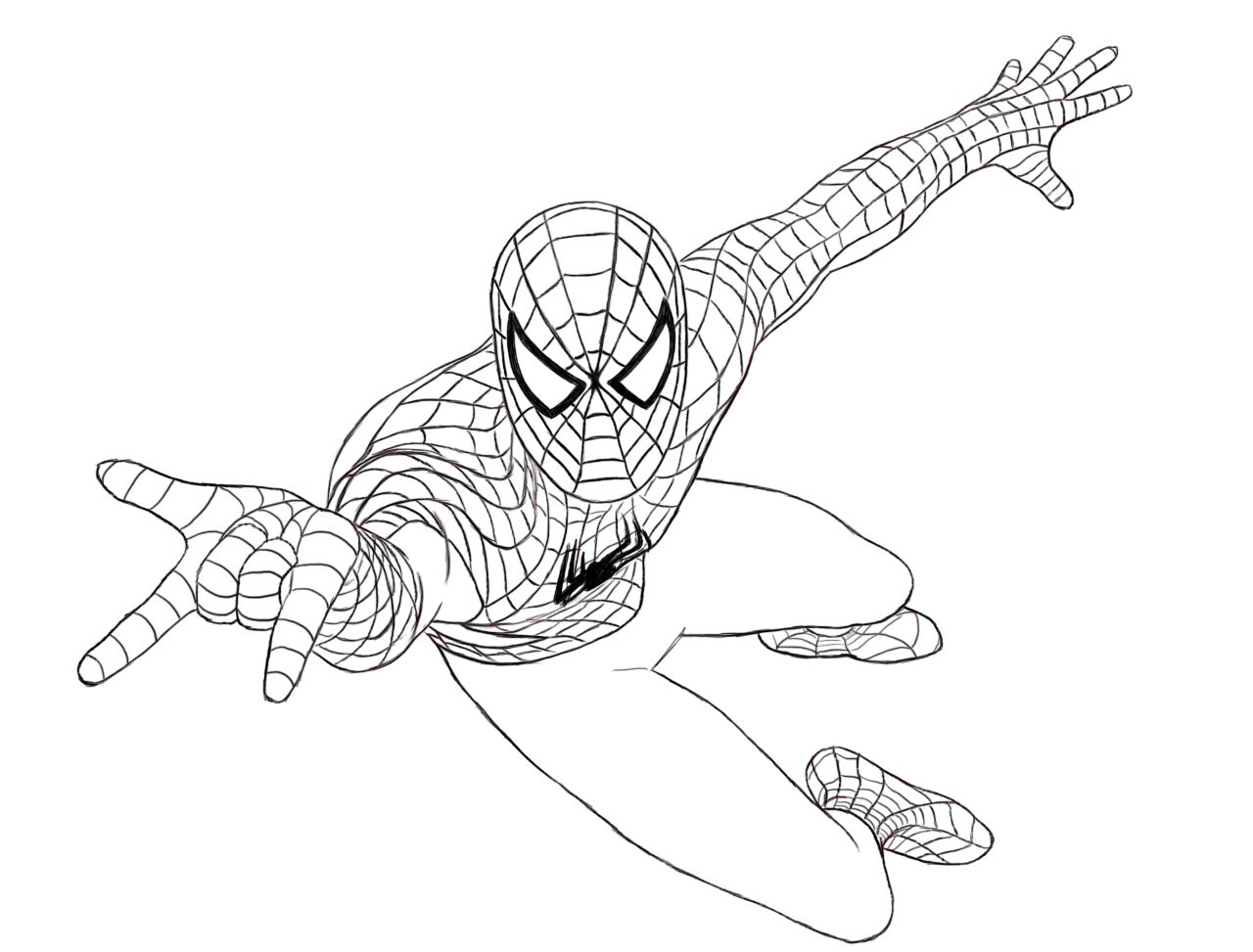 How To Draw Spiderman Spiderman Drawing Spiderman Coloring