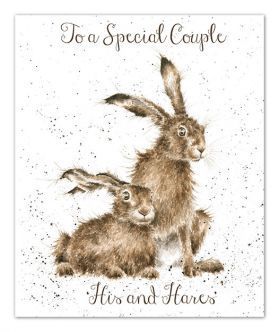 'His and Hares' Anniversary card