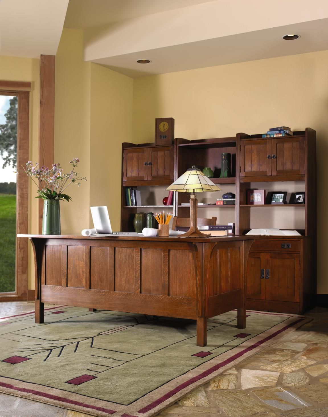 Office stickley mission furniture pinterest mission for Craftsman style office