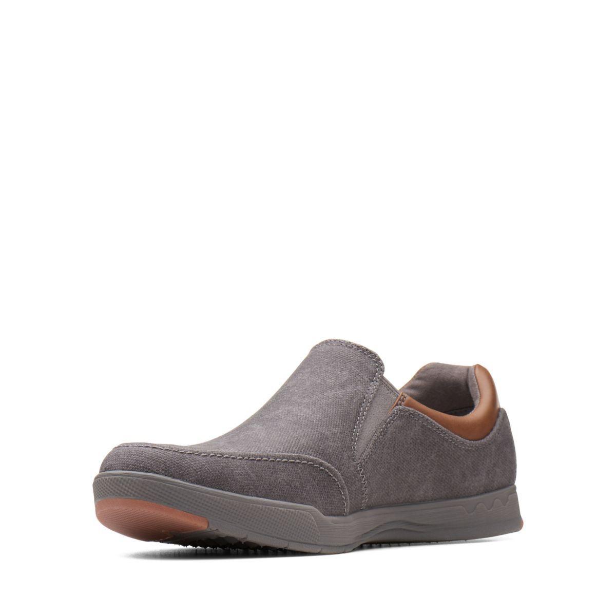 17162be9b4715 Clarks Step Isle Slip - Mens Shoes Dark Grey 8 Gray