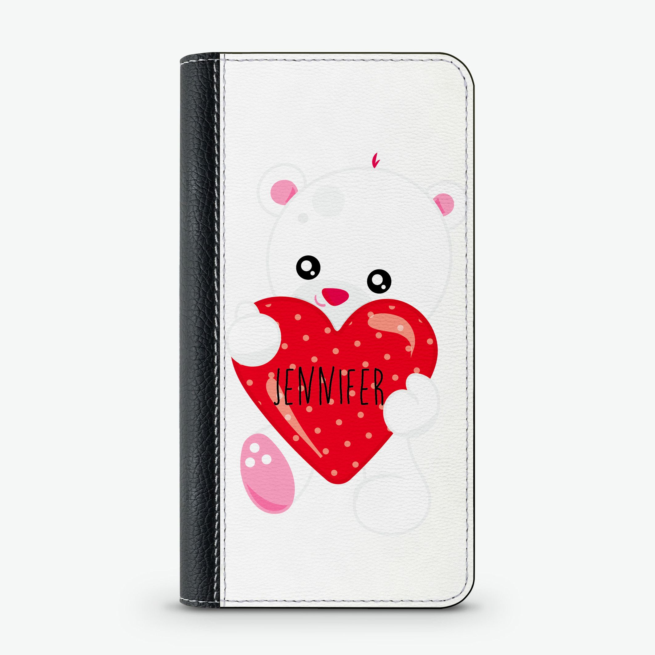 Lovely bear custom wallet case personalized phone cases