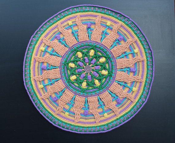 Superposici n mandala crochet patrones descarga for Decoracion del hogar pdf