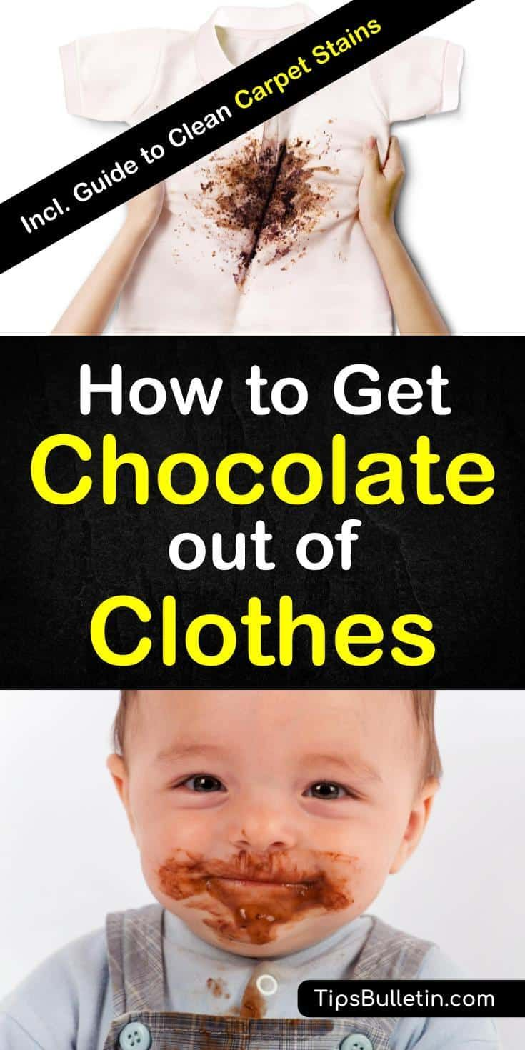 4 simple ways to get chocolate out of clothes removing