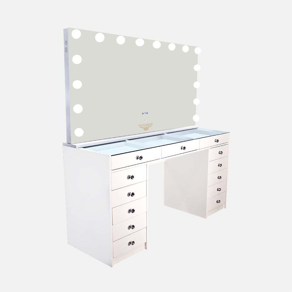 LARGE DESK WITH HOLLYWOOD DELUXE MIRROR 4XL WITH BLUETOOTH
