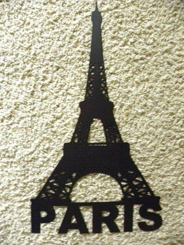 Attractive Eiffel Tower With Paris Word Metal Wall Art Home Decor