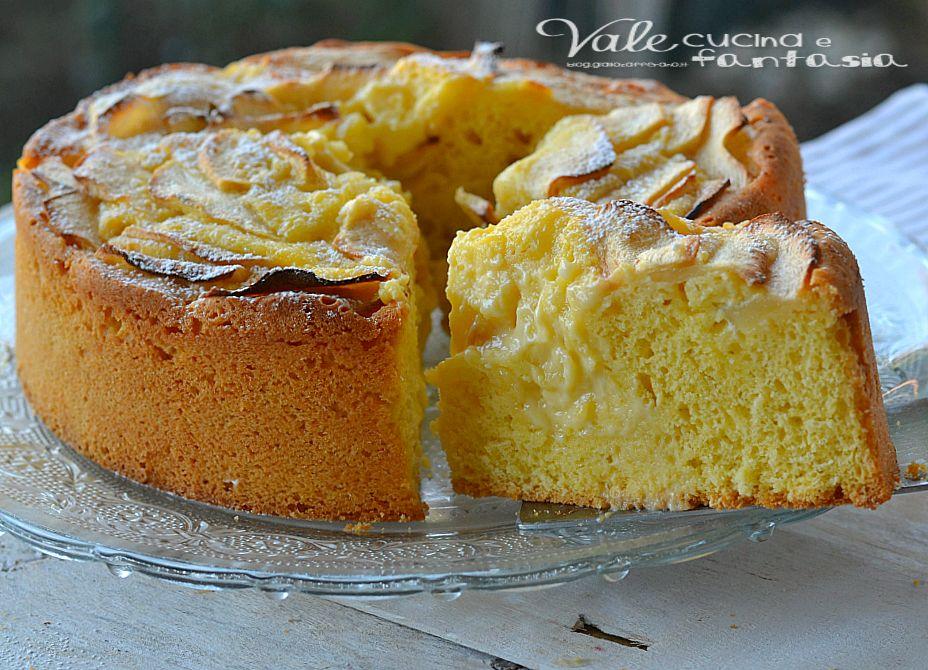 Ricetta Crema Pasticcera E Mele.Torta Di Mele Con Crema Pasticcera E Mascarpone Ricette Ricette Torta Di Mele Torte