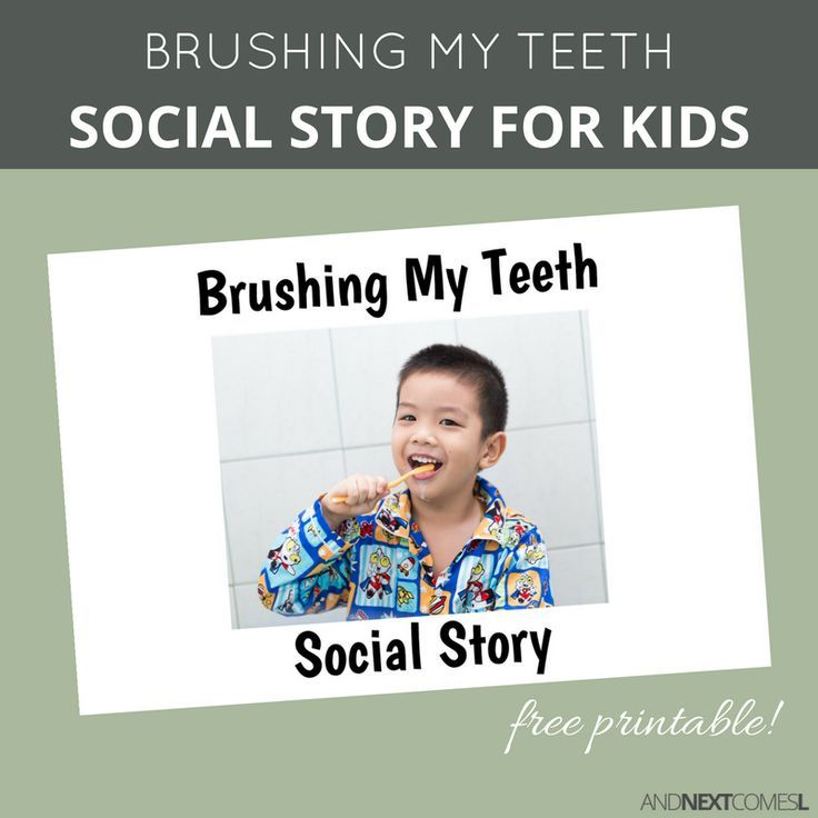 picture about Free Printable Social Stories for Preschoolers called No cost Printable Social Tale Relating to Brushing My Tooth