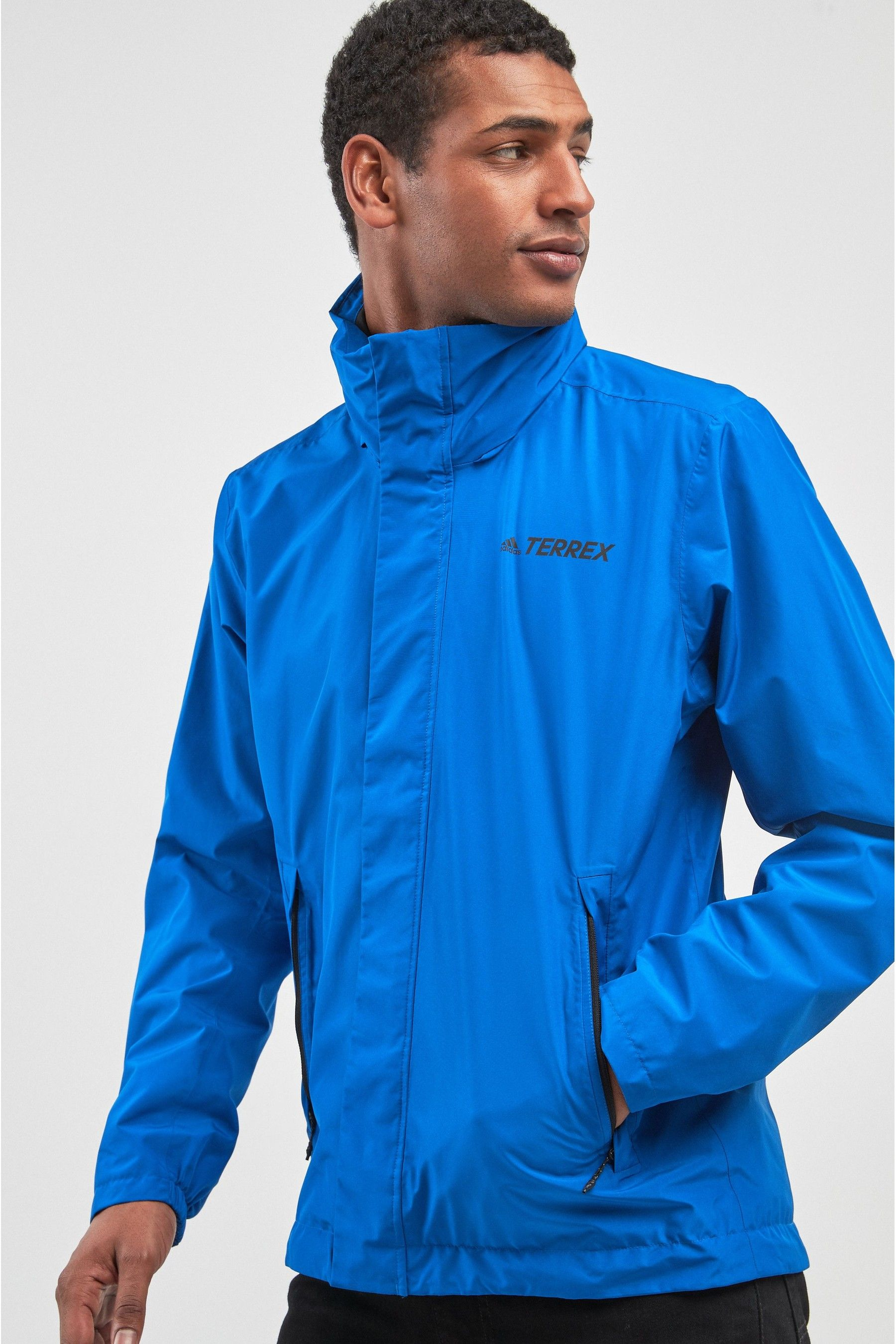 ADIDAS Men's Hooded Jacket Blue