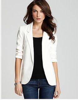 mujer ~ y PeinadosSacos blancos Blazers Belleza para wkOnP0