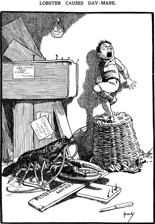 """Lobster causes day-mare,"" from The Sketch, 1906."