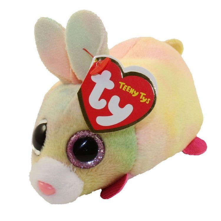 "TY Beanie Boos 4/"" Teeny Tys WHIZ Bunny Rabbit Stackable Plush w// Ty Heart Tags"