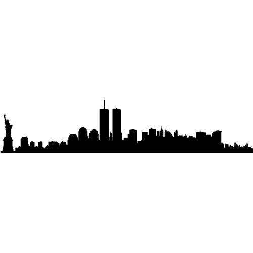 New York City Skyline Small Vinyl Wall Decal Sticker 13 95 Via Etsy City Skyline Silhouette New York Skyline Silhouette Skyline Silhouette