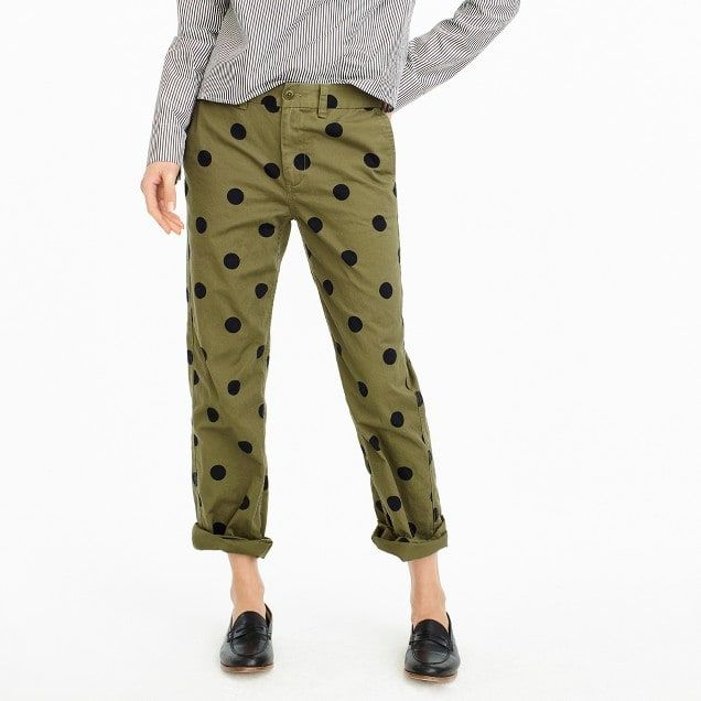 36d491760d women's boyfriend chino pant in polka dot - women's pants | ME ...