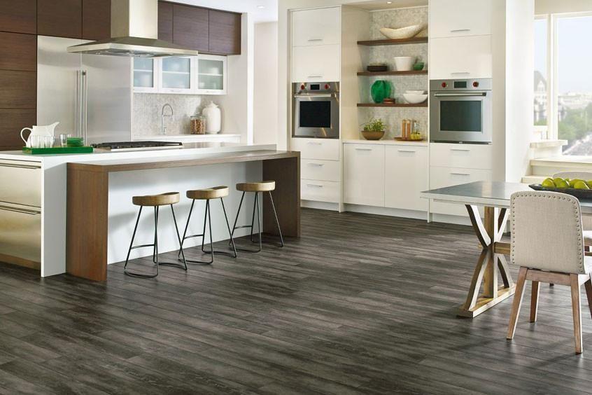 Luxe Plank with FasTak Install Vinyl flooring kitchen