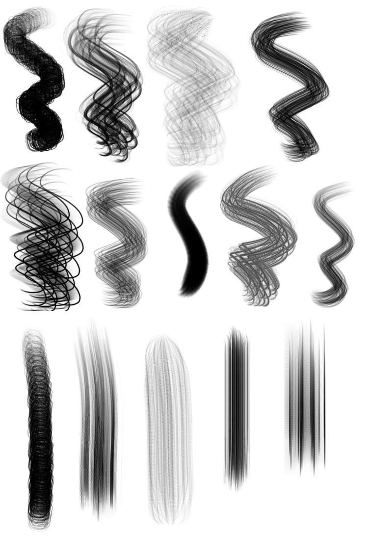 351 Free Procreate Brushes Fresh New Hair Brush Set Hair Brush