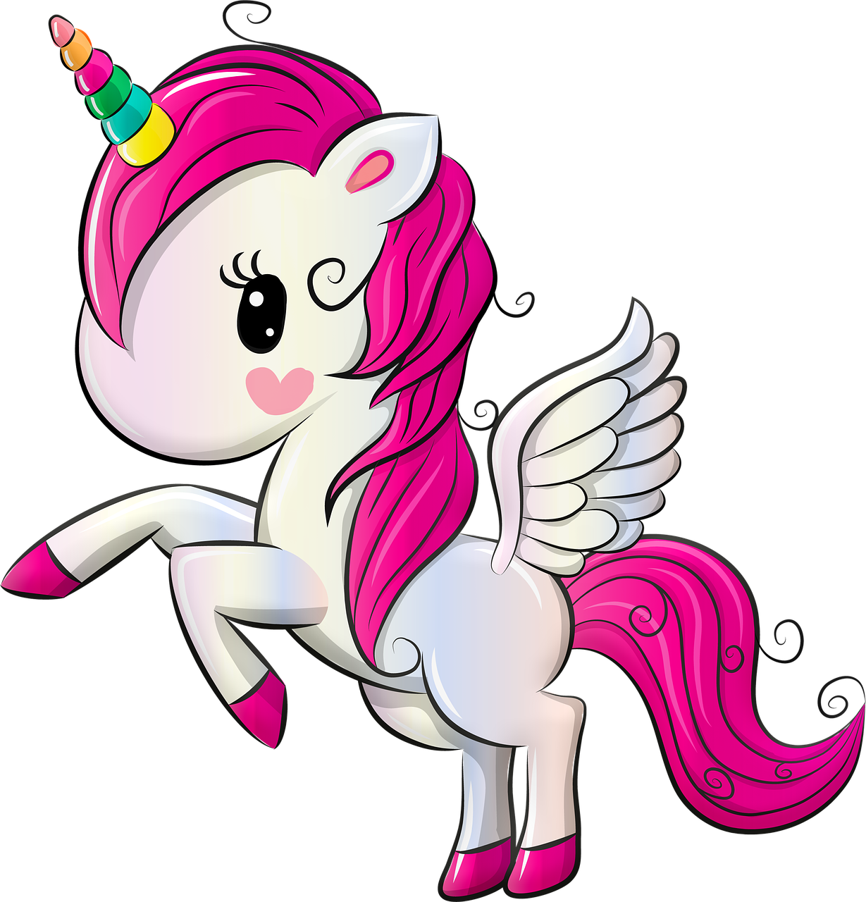 Unicorn, Rainbow, Pegasus, Sweet, Children, Girl, Map