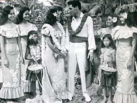 Elvis With Maile On Their Wedding Day Singing Hawaiian Song