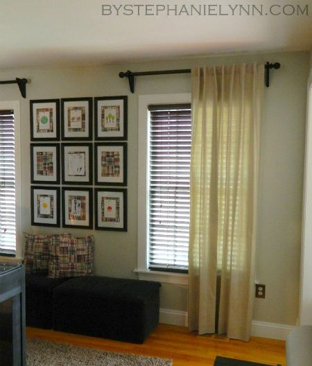 Mount Blinds On The Inside Curtains Over Blinds Diy Curtain Rods Diy Curtains