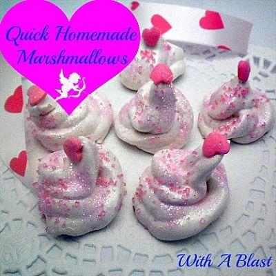 Quick Homemade Marshmallow #flavoredmarshmallows