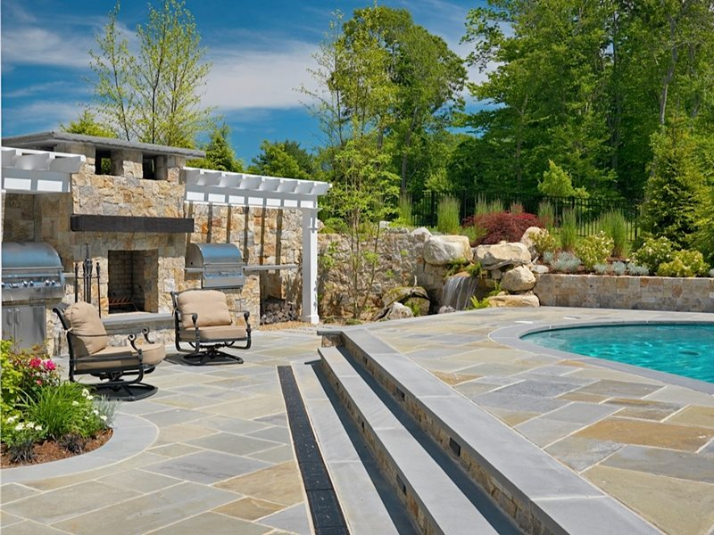 Outdoor Kitchen Mattapoisett Ma Photo Gallery Landscaping Network Exterior Fireplace Outdoor Fireplace Outdoor