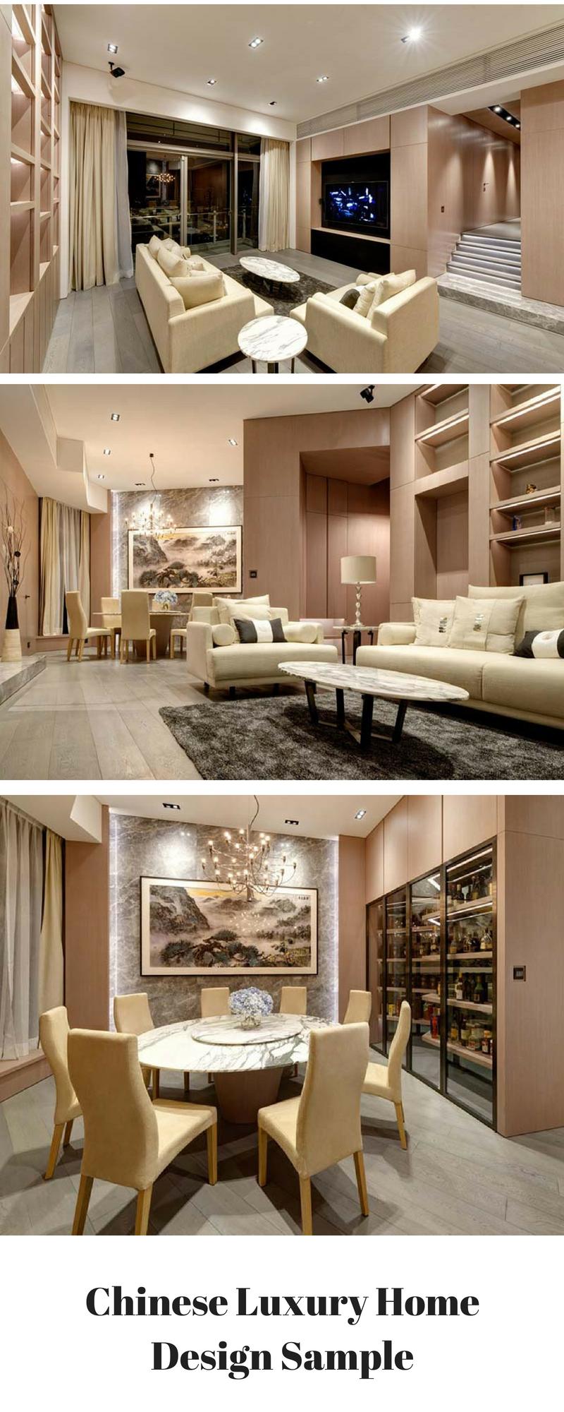 Chinese Luxury Home Design Sample Interior Design In Beige Tones