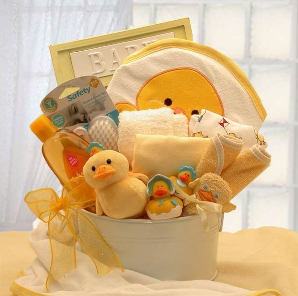 How to make baby shower gift basket yourself diy bolsas para fun baby bath time gift basket solutioingenieria Choice Image