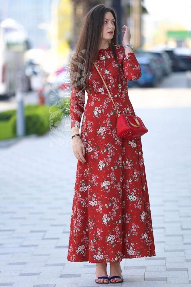 Autumn Flower Dress Ic Clothes Online Women S Clothing