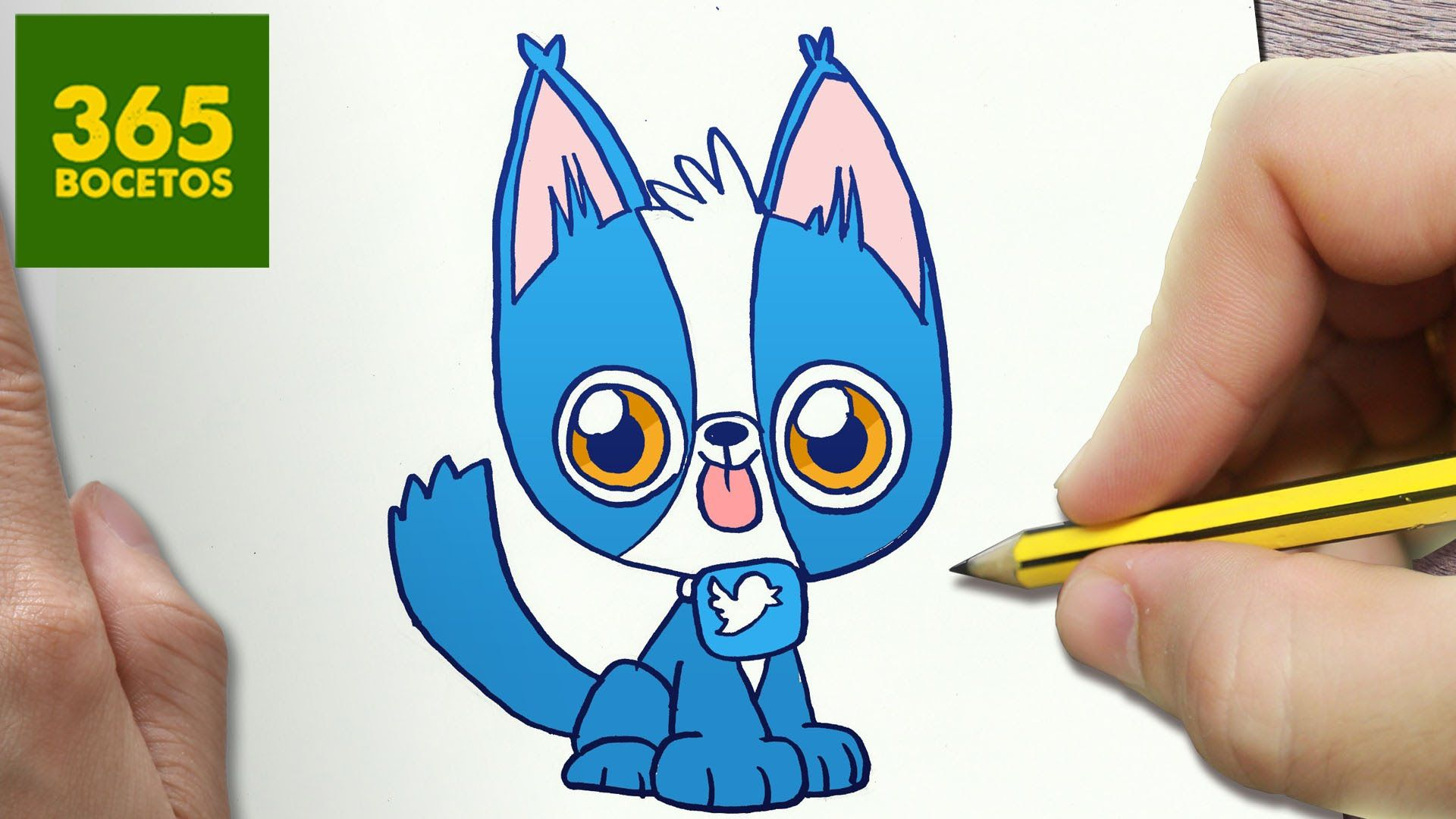 Como Dibujar Perro Twitter Kawaii Paso A Paso Dibujos Kawaii