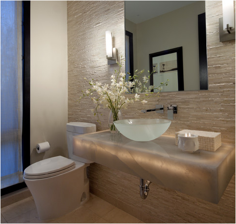 Guest bathroom Houzz Modern powder rooms, Powder room