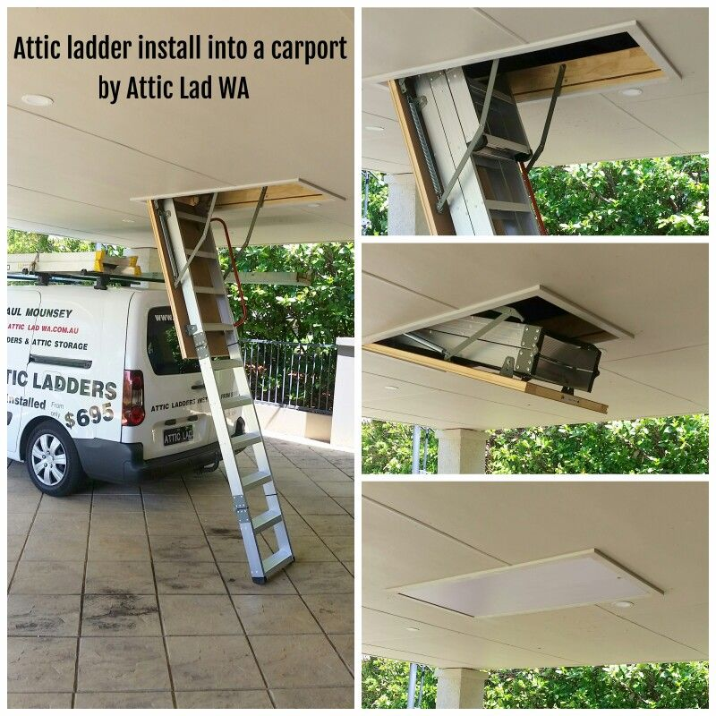 Attic Stairs Ladder By Attic Lad Wa At This Install The Deluxe Aluminium Attic Ladder Was Install In To A Open Ca Carport Designs Stair Ladder Attic Ladder
