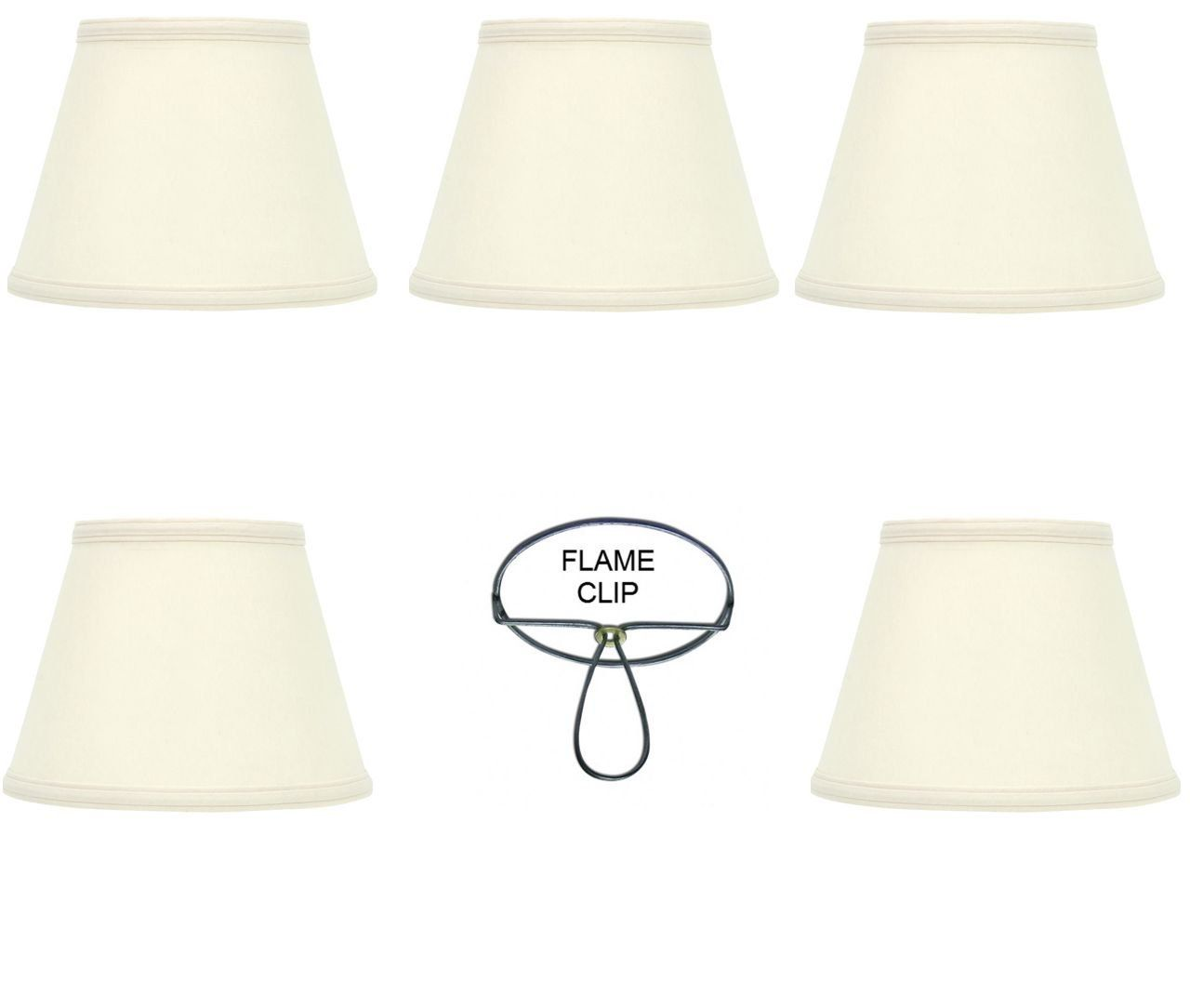 Mini Chandelier Shades Clip On Small Lamp Shades Set Of Five