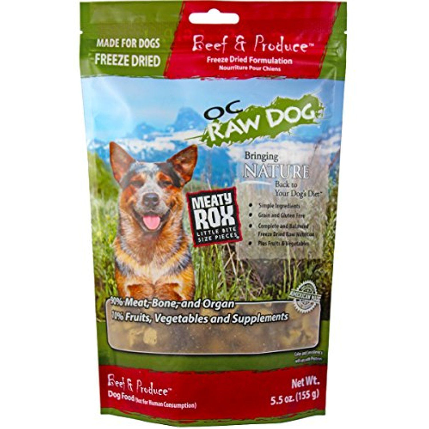 Freeze dried meaty rox beef 55 oz for more
