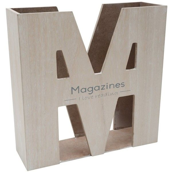 M&Co Wooden Magazine Rack (£10) ❤ liked on Polyvore featuring ...