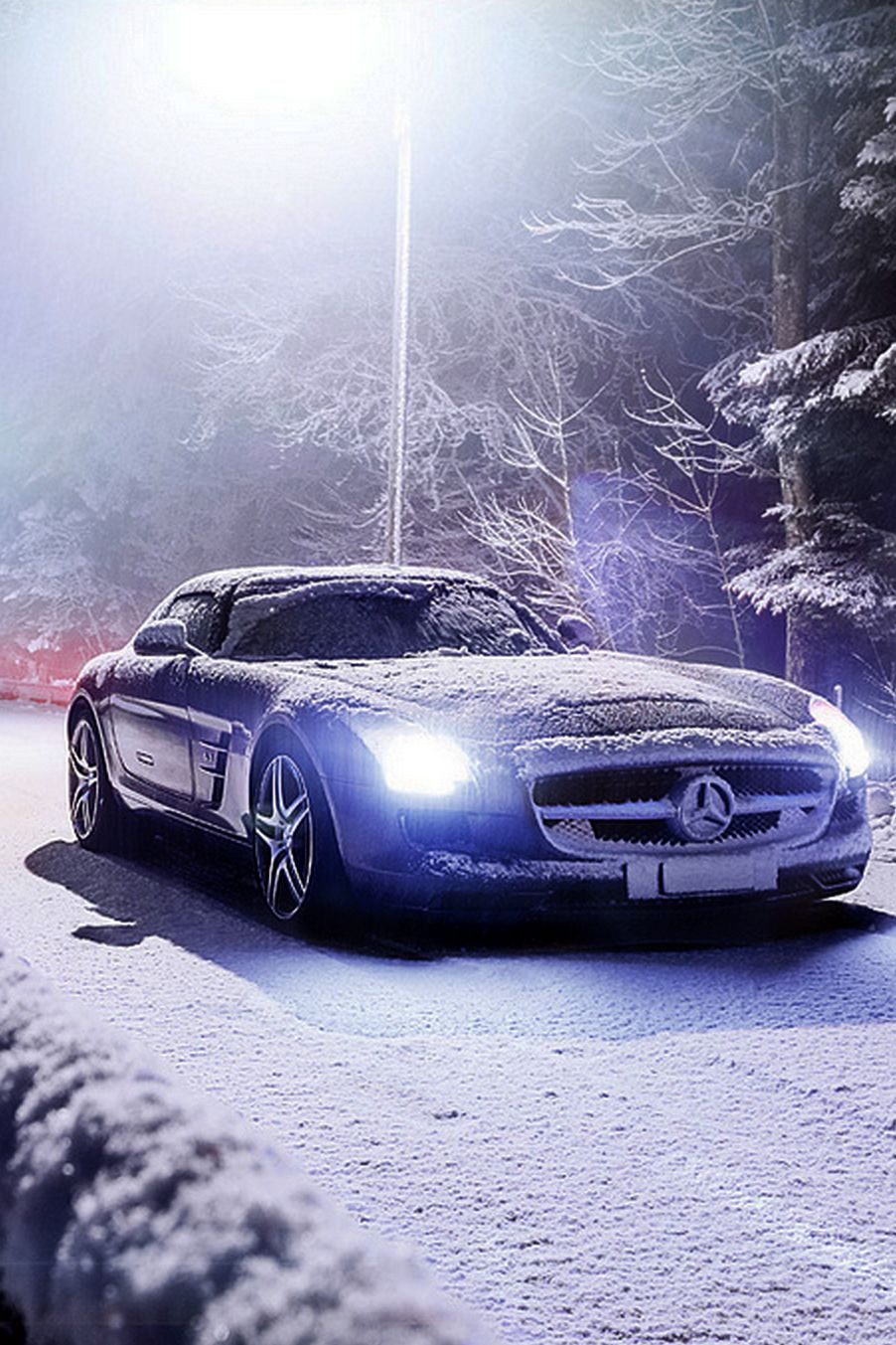 Winter Luxury Land Drive To The Chalet Ladyluxurydesigns Mercedes Benz Sls Amg Super Cars Mercedes