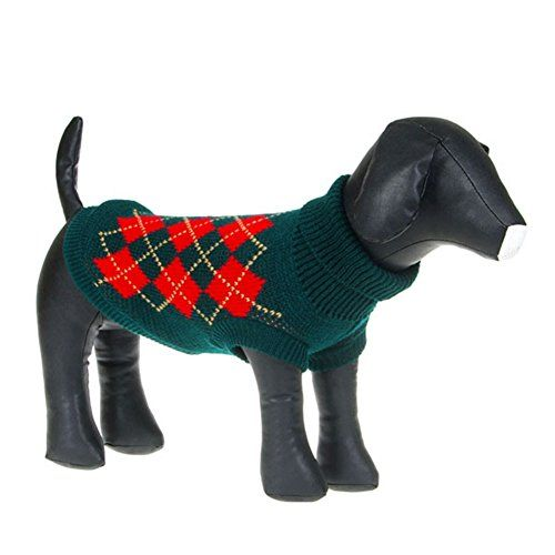 Weixinbuy Puppy Pet Dogs Cat Sweater Knit Apparel Green Medium *** For more information, visit image link.