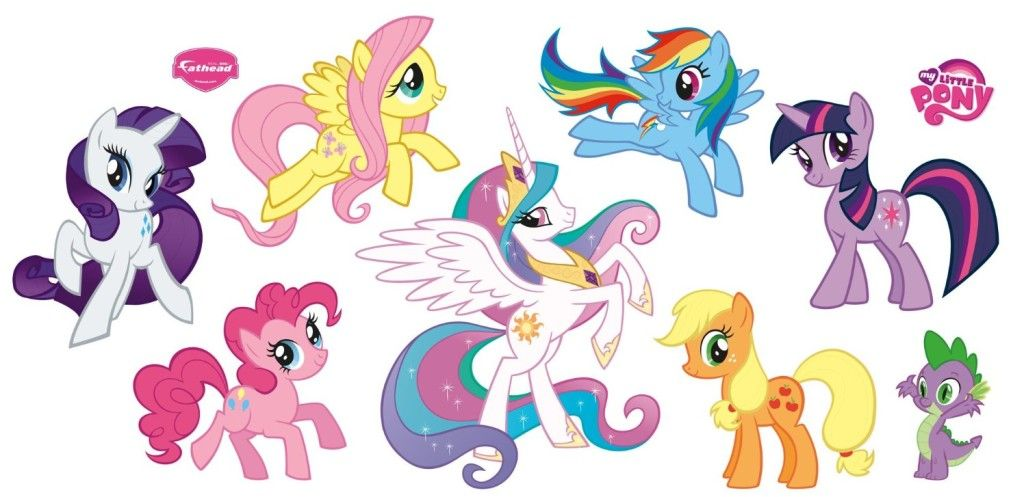 Hasbro My Little Pony Collection Wall Decal fiuttrsny