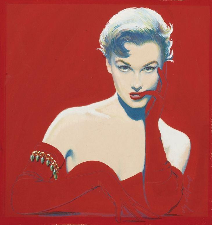 Maxwell Whitmore 1913-1988   American pintor e ilustrador de moda Revista ,en