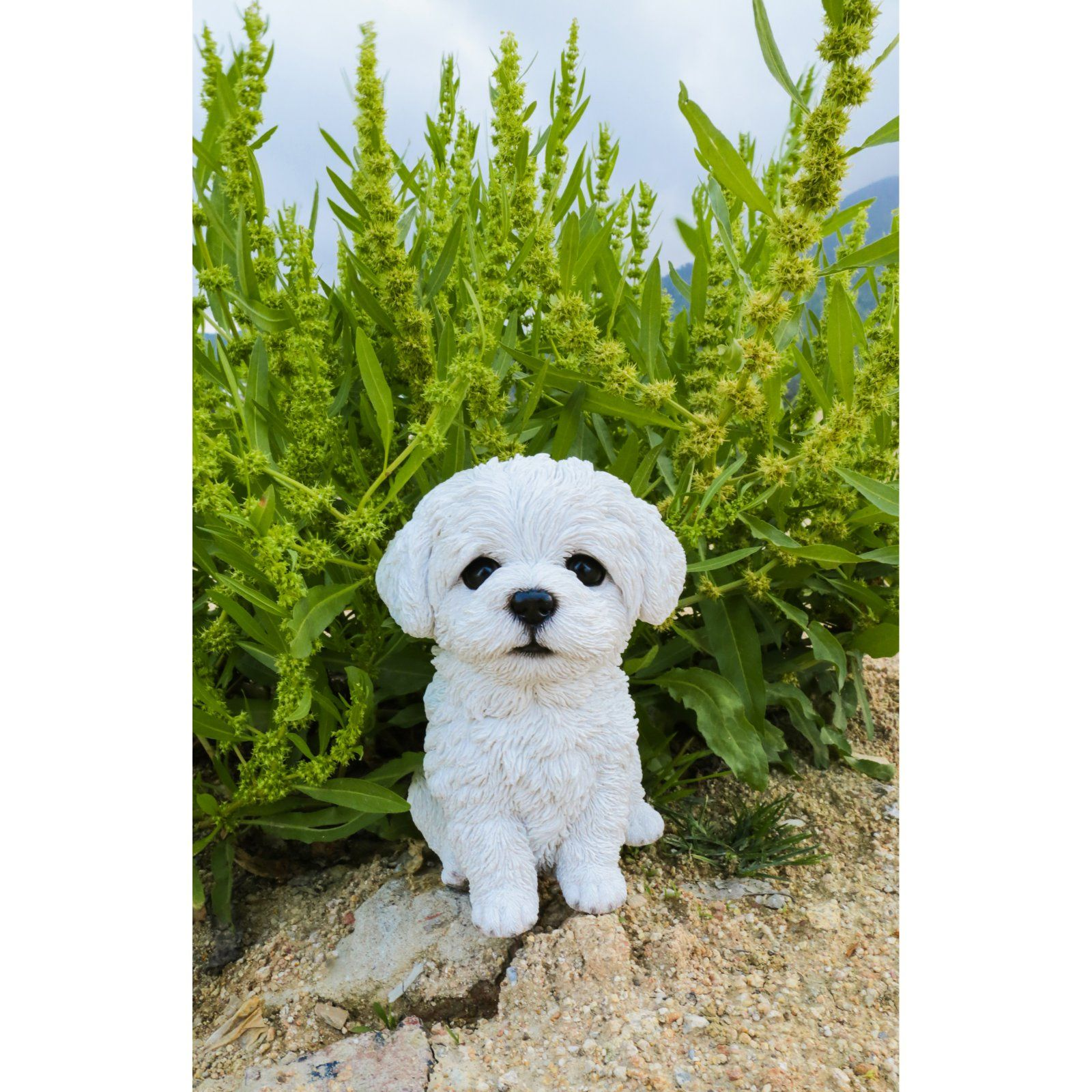 Hi Line Gift Ltd Maltese Puppy Statue Dog Gifts Yorkshire