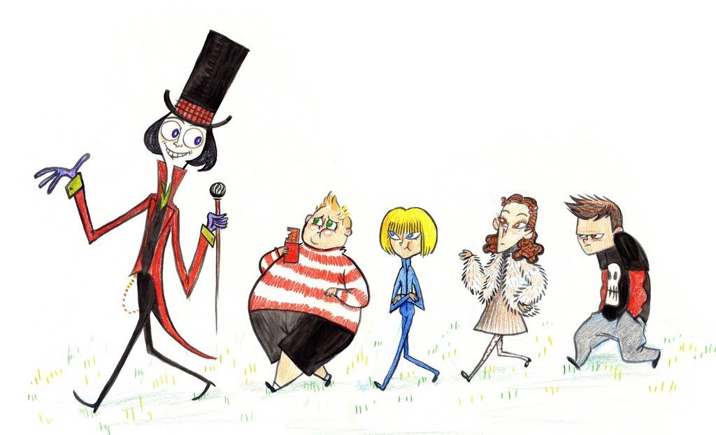 Charlie The Chocolate Factory Characters Com Imagens