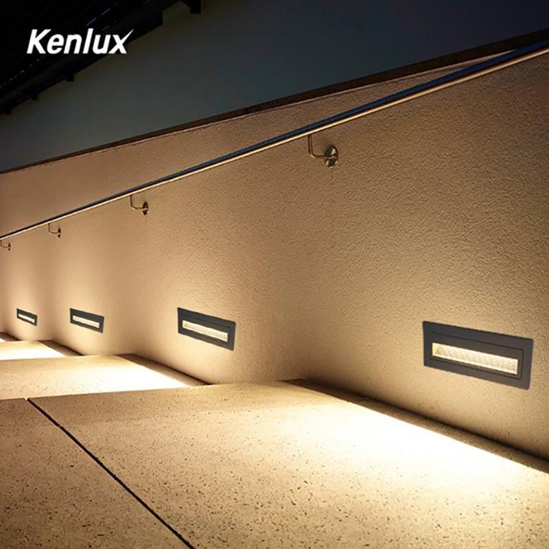 Kenlux Led Stair Light Step Lights 6w Smd 210 60mm Ac85 265v Aluminum Outdoor Indoor Waterproof Embedded Staircas In 2020 Led Stair Lights Stair Lighting Step Lighting
