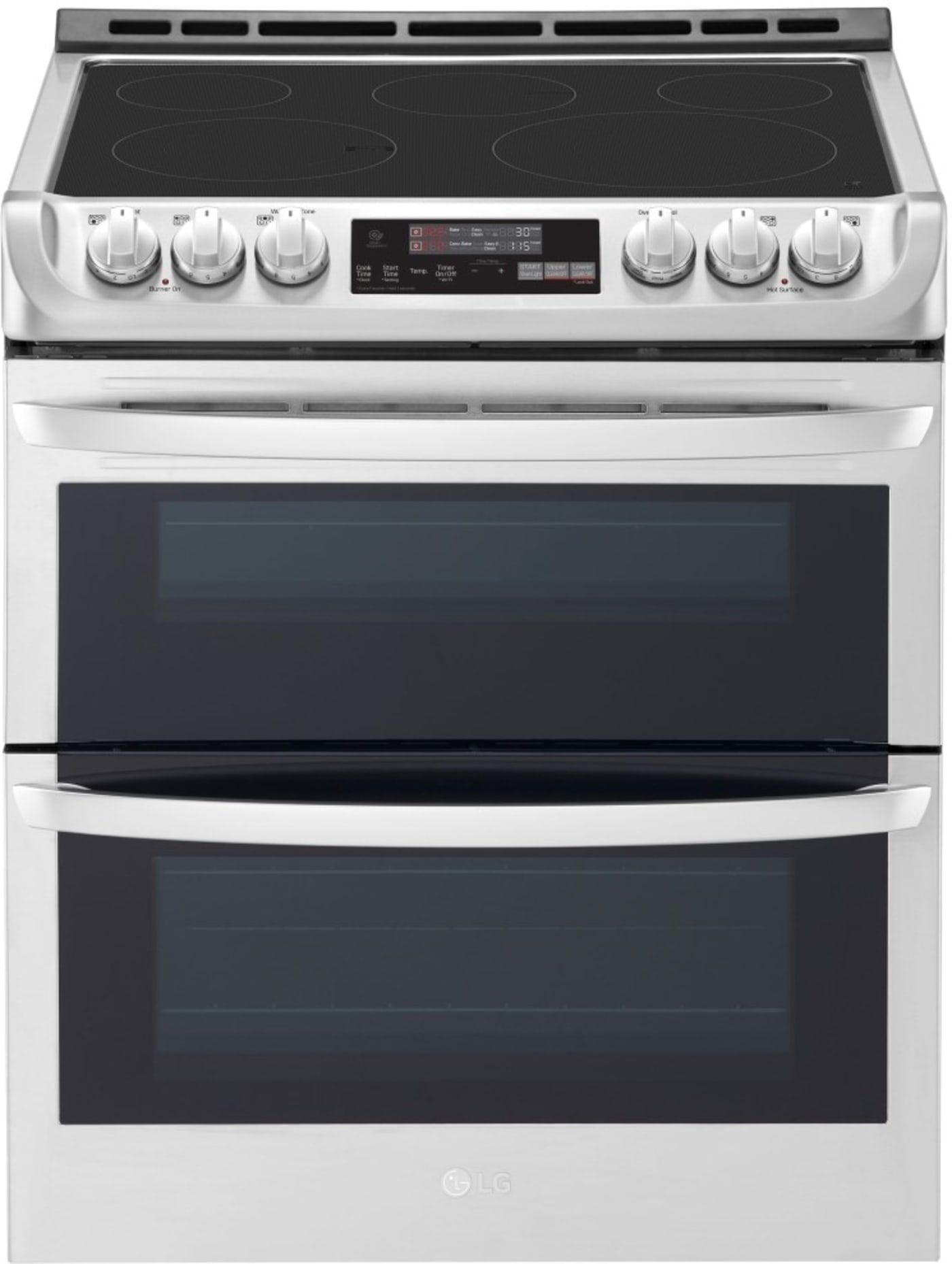 Lte4815st By Lg Electric Ranges Goedekers Com Double Oven