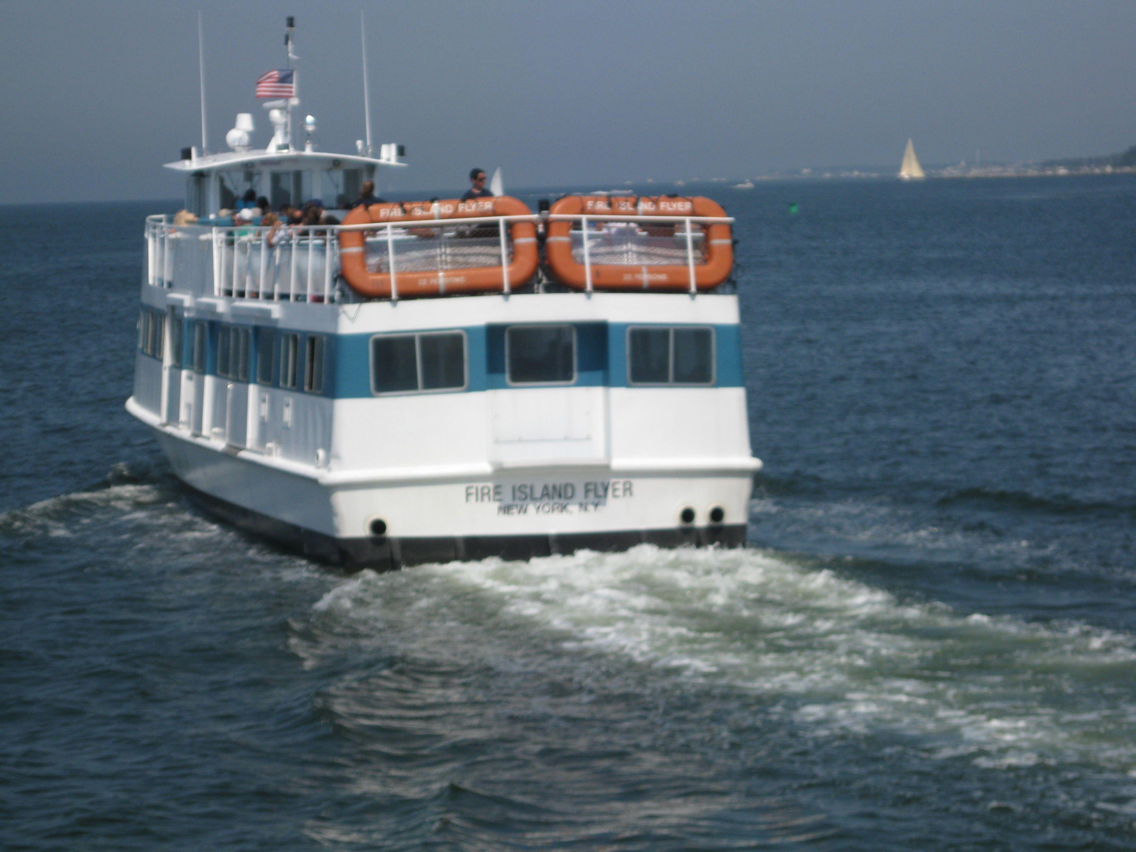 Ferry to ocean beach fire island fire island long