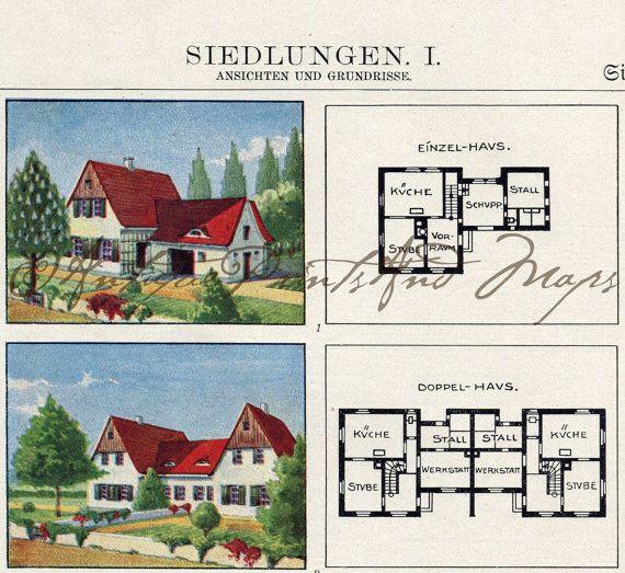 German Houses Settlements Housing Development Floor Plans Charming ...