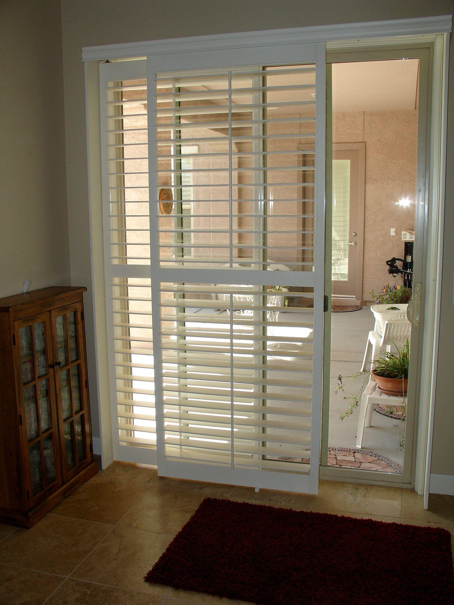 Window Treatment Specialists Rk Window Fashions Sliding Glass Door Shutters Sliding Glass Door Window Glass Door Coverings