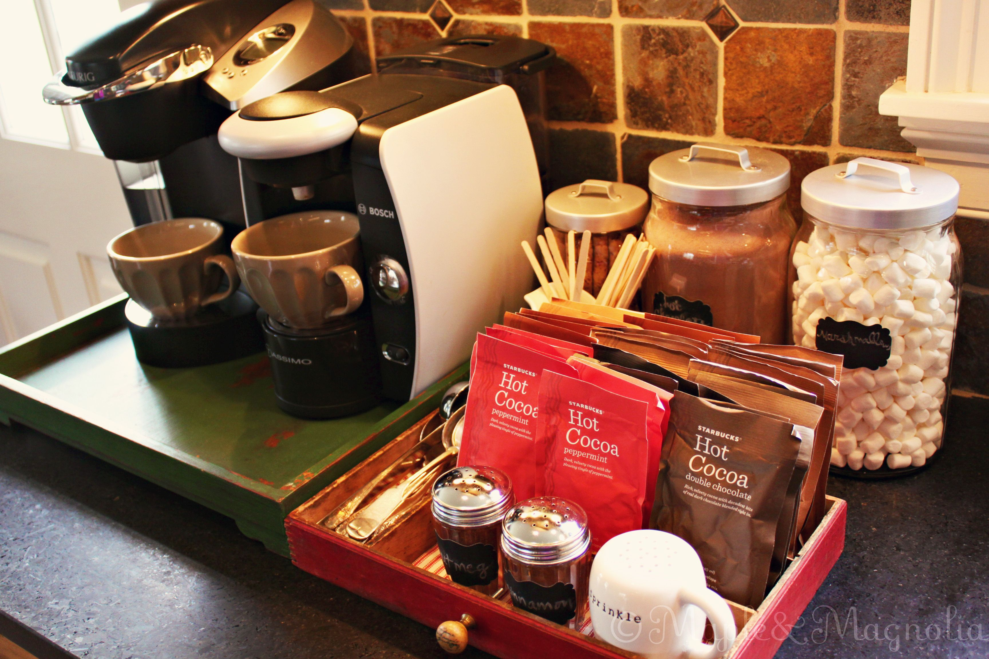 Coffee Bar Ideas For Party Coffee Tea Hot Chocolate Station Home Good Ideas