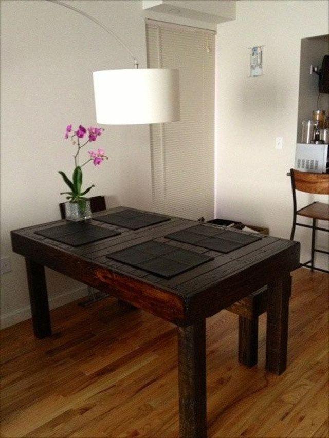 10 ideas de mesas de comedor hechas con palets pinterest mesa de comedor palets y comedores - Mesas de pale ...