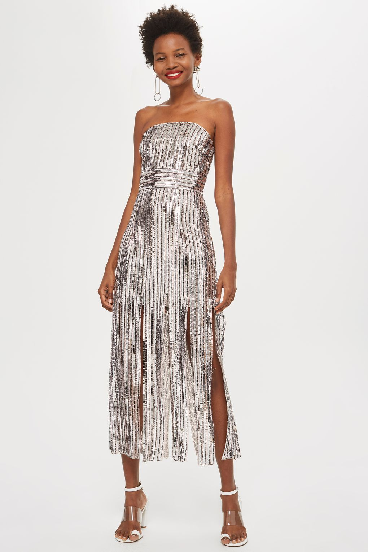 7b00b33d Sequin Fringe Bandeau Dress | My Future Wardrobe | Bandeau dress ...